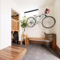 趣味と一緒に暮らしたい♪自転車ディスプレイを楽しむお部屋 ... すっきり玄関に
