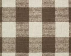 large scale brown buffalo check fabric