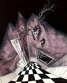 Tim Burton style art