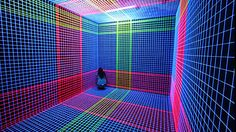 Colored Thread And UV Lights Form Captivating Augmented Spaces | The Creators Project