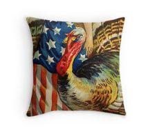 Americana Thanksgiving Throw Pillow