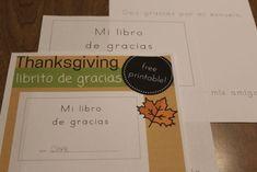 Thanksgiving Freebies in Spanish. Printable Doy gracias mini-book and Estoy agradecido printable.