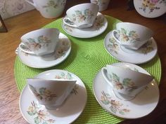 lúcciac8 antiguidade 5 xícaras de chá porcelana real