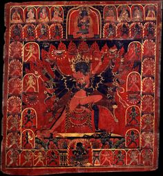 Chakrasamvara and Vajravarahi in union Western Tibet, circa 1400-99.  Uncertain Lineage.