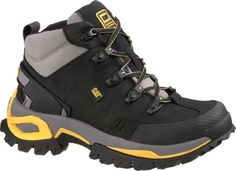 Caterpillar Interface Hi Steel Toe Hiker - Men's Work Boot - Black Cat Shoes, Men's Shoes, Shoe Boots, Mens Rugged Boots, Lumberjack Boots, Black Work Boots, Caterpillar Boots, Steel Toe Work Boots, Chunky Boots