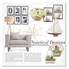 """""""Nautical Designs"""" by ayelmaoki ❤ liked on Polyvore featuring interior, interiors, interior design, home, home decor, interior decorating, Eichholtz, Blu Dot, Americanflat and John-Richard"""