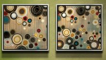 modern decorative art mural prints abstract painting colorful bubbles pattern modern art living room reading room decor(China (Mainland))