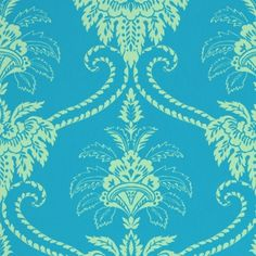 Damask wallpaper feature wall idea for Sophia's room