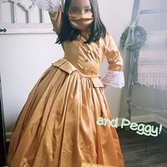 Hamilton Peggy, Anthony Ramos Hamilton, Hamilton Eliza, Hamilton Costume, Hoop Skirt, Sister Costumes, And Peggy, Doll Costume, Ball Gown Dresses