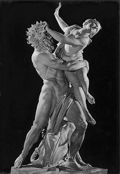 Bernini: Rape of Persephone. Italian artist Gian Lorenzo Bernini, executed between 1621 and Bernini was only 23 years old at its completion. Sculpture Du Bernin, Bernini Sculpture, Baroque Sculpture, Roman Sculpture, Metal Sculptures, Abstract Sculpture, Statue Ange, Greek And Roman Mythology, Baroque Art