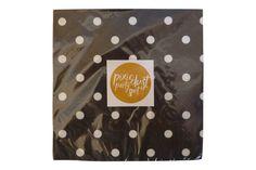 Black Polka Dot Napkins  #sprinklesomehappiness #pixiedustpartyspot