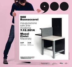 Manifesto 300x280 della campagna #900Buonaccorsi a cura di ma:design per l'apertura delle Sale #Arte Moderna di #PalazzoBuonaccorsi, il 7 dicembre 2014 a #Macerata.