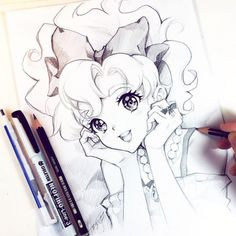 #Dessin #Nashi #Gomme mono zero #Tombow #Crayon graphite #Castell9000 #Fabercastell #Feutre #Liner #Deleter neopiko-line 3 #Manga #Neopikoline