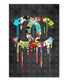 Tableau Logo Chanel Street Art Pop Art - Tableau Deco Tableau Logo, Tableau Pop Art, Logo Chanel, Street Art, Art Pop, Ink, Impressionism, Toile, Pop Art