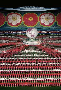 'pyongyang I' by andreas gursky, 2007 307 x 215.5 cm photograph © andreas gursky courtesy the national art center, tokyo / monika sprueth galerie, cologne