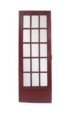 Antique 15 Beveled Lite Oak French Door 98.25 x 35.125 Arched Doors, Panel Doors, Entry Doors, Antique French Doors, French Antiques, Antique Interior, Pocket Doors, Closet Doors, Cabinet Doors