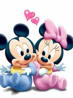 mickie mouse handmade greeting cards | Mickey And Minnie Mouse In Love