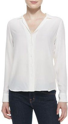 Shop Now - >  https://api.shopstyle.com/action/apiVisitRetailer?id=454330011&pid=uid6996-25233114-59 Equipment Adalyn Silk Long-Sleeve Blouse  ...