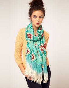 aztec fringe scarf