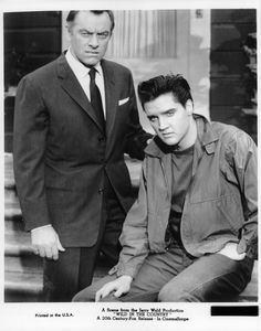 John Ireland and Elvis Presley from the film 'Wild In The Country' 1961