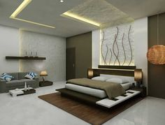 35 Amazing Bedroom Ideas You Haven't Seen A Million Times Before - Engineering Discoveries Bedroom False Ceiling Design, Bedroom Bed Design, Modern Bedroom Design, Contemporary Bedroom, Bedroom Designs, Bedroom Furniture, Furniture Design, Bedroom Decor, Bedroom Ideas
