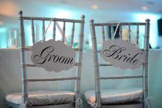 Our bride and groom Reception chairs #tiffanybluewedding #spearmintwedding #brideandgroom