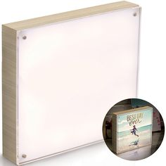We R Memory Keepers - Photolights - Backlit Wood Finish with Acrylic Frame - Natural Picture Framing Tools, Picture Frames, Acrylic Frames, Clear Acrylic, Artist Supplies, Craft Supplies, Acrylic Photo, We R Memory Keepers, Unique Lighting