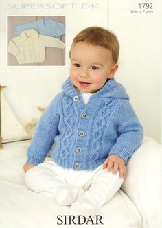 the online pattern store Baby Cardigan Knitting Pattern Free, Knitting Patterns Boys, Baby Sweater Patterns, Baby Hats Knitting, Knitting For Kids, Baby Knitting Patterns, Baby Boy Cardigan, Cardigan Bebe, Toddler Sweater