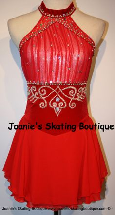 Custom figure skating dress from Joanie's Skating Boutique. There was also a black one, but I like the red better. http://www.joanies-skatingboutique.com/albums/album_image/7453971/8099944.htm