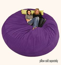 8 ft comfy sack would be perfect for my college room! All the ladies dig the furry purple :p