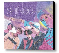 SHINEE Band Members and Albums List Mosaic Print Limited Edition