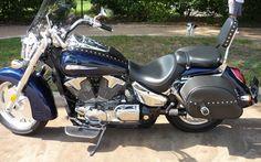 2008 Honda VTX1300R-cobalt blue. Mine, all mine.