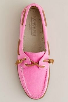 SPERRY'S. Out of my style but I would definitely try them out cause they are pink maybe a little cute