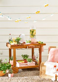 Bar carts serve as stylish yet hardworking hubs for entertaining. Learn how to style your beverage station with these beautiful bar cart ideas. #barcart #barcartstyling #barcartideas #barcartdecor #bhg Bar Cart Styling, Bar Cart Decor, Outdoor Bar Cart, Outdoor Ideas, Brass Bar Cart, Serving Trolley, Drink Cart, Vintage Bar Carts, Black Table Lamps