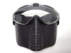 Pro-Goggle Full Face Mask with Fan Ventilation Black by AirSoft. $31.99. FEATURES: Made by high quality Polymer material. Full Face Goggle Mask with Fan Ventilation System. Removable Hard Rubber Face Mask allows easier sighting. Foam padded inside for comfort wearing. Large space inside goggle, able to wear most glasses inside the mask. Fan with 2 speed levels, can operate ~150mins for normal mode & 50mins for high speed mode. Powered by 2x AAA batteries.(not in...