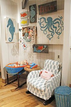 Lots of Blabla spotted @Oh Baby! . Great idea for a sea themed room!
