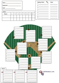 Download The Baseball Roster And Lineup Template From VertexCom