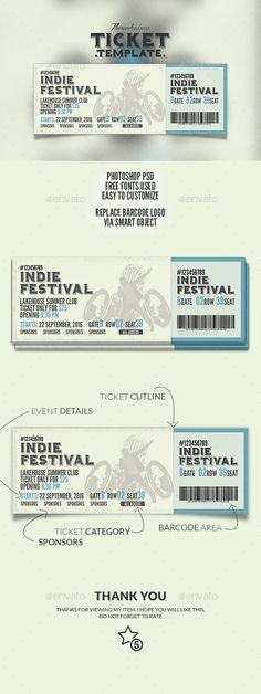 Event Ticket Print Template Download Here: http://graphicriver.net/item/event-ticket/14759197?ref=arroganttype