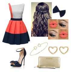 """""""Bailey's 2nd Date Outfit"""" by sydlu on Polyvore featuring Lattori, Little Mistress, Marc by Marc Jacobs and Michael Kors"""