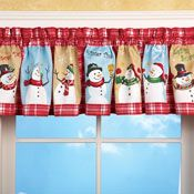 Snow Time Checkered Window Valance from Collections Etc. Indoor Christmas Decorations, Snowman Decorations, Christmas Snowman, Christmas Holidays, Christmas Sewing, Christmas Ideas, Christmas Crafts, Merry Christmas, Christmas Valances