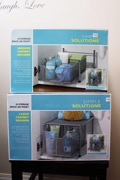 under sink organizer Bathroom Sink Organization, Bathroom Sink Design, Under Sink Organization, Under Sink Storage, Sink Organizer, Bathroom Sink Faucets, Bathroom Storage, Bathroom Ideas, Organization Hacks