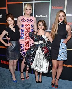 Rose Leslie, Gwendoline Christie, Maisie Williams, and Sophie Turner San Diego Comic-Con 2014