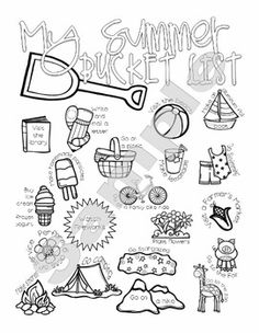 This one page document is a cute bucket list that can be given to students to enjoy their summer!