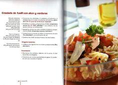 Ensalada d pasta con atún y verduras. ARCHIVO DE RECETAS THERMOMIX: 100 Nuevas Recetas para Thermomix TM31 (Nieves Suarez Lacalle)