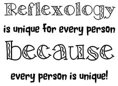 AND every Reflexologist is Unique!