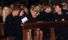 DIANA. Versace funeral. July 22, 1997.