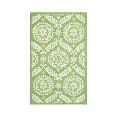 Safavieh Huntington Accent Rug ($75) ❤ liked on Polyvore featuring home, rugs, green, safavieh rugs, wool rugs, safavieh area rugs, green damask rug and patterned rugs