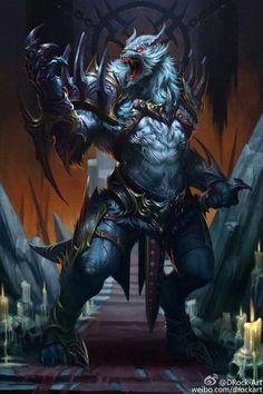 Dark Fantasy Art, Fantasy Rpg, Fantasy Artwork, Fantasy Monster, Monster Art, Fantasy Creatures, Mythical Creatures, Werewolf Art, Fantasy Beasts