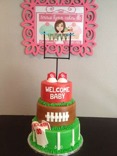 Baby shower football themed