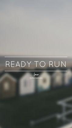 Ready to Run • Four Lockscreen — ctto: @stylinsonphones